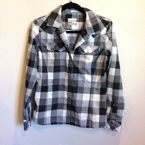 Columbia   ladies flannel long sleeve button shirt